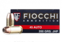 .45ACP – 200gr – JHP – 50/bx